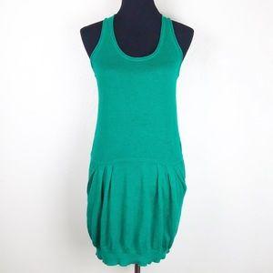 BCBG MAX AZRIA Womens Sweater Tank Dress Green